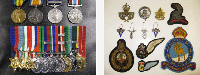 Military medals and patches